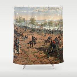 Civil War Battle of Gettysburg by Thure de Thulstrup (1887) Shower Curtain