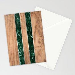 Wood Grain Stripes - Green Granite #901 Stationery Cards