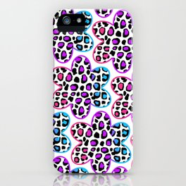 Rainbow Leopard Flower iPhone Case
