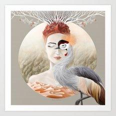 Bird Crane Art Print