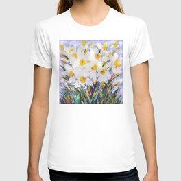 White Daffodil Meadow T-shirt