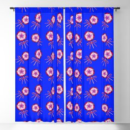 Lovely cute pink lollipop candy pattern. Pretty retro vintage lollipops with red ribbon bows. Blackout Curtain