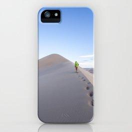 Footsteps in Gobi iPhone Case