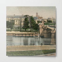 York general view and castle 1900 Metal Print
