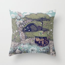Spirited among the Dragonflies Throw Pillow