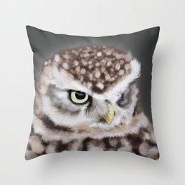 Burrowing Owl Portrait II Throw Pillow