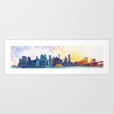 NYC panorama Art Print