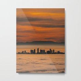 Vancouver - Sea of Clouds Metal Print
