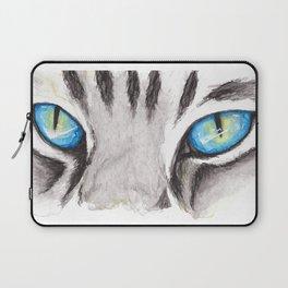 Blue Cat Eyes Laptop Sleeve