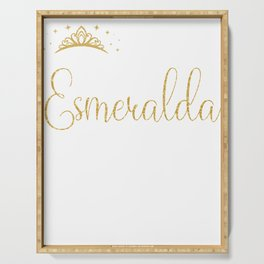 Queens Are Named Esmeralda Personalized First Name Girl design Serving Tray