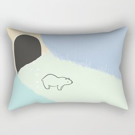 Abstract Bear - Blue and Green, Abstract Landscape, Animal Illustration Rectangular Pillow