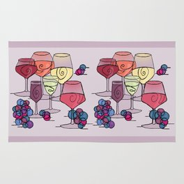 Wine and Grapes v2 Rug