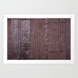 Corrugated Wall Art Print