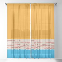 Minimal Retro Pattern Sheer Curtain