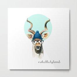 Hipster Kudu  Metal Print