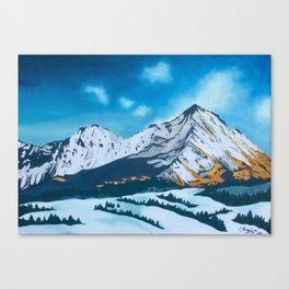 Snowy volcano Canvas Print
