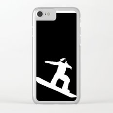 Snowboarder Clear iPhone Case