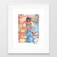 libra Framed Art Prints featuring Libra by Trenita