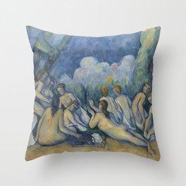 Paul Cézanne - The Bathers Throw Pillow