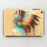native american iPad Cases featuring Native American Girl by TapuTIKI