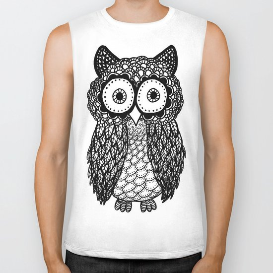 Pattern owl Biker Tank