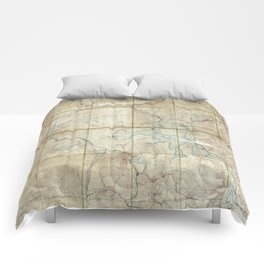 Map of Yellowstone National Park (1886) Comforters