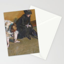 Waiting by Edgar Degas Stationery Cards