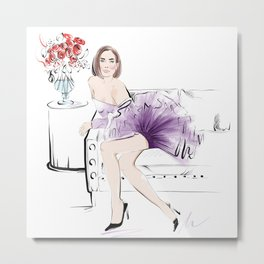 Chic Lady Metal Print