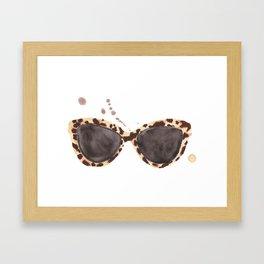 Tortoiseshell Sunglasses Framed Art Print