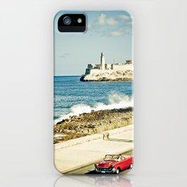 Old car on Malecon of Havana, Cuba iPhone Case