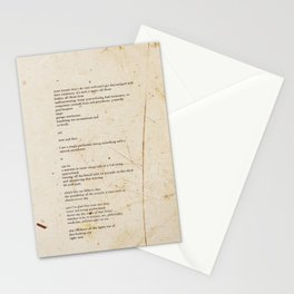 60 yard pass Stationery Cards