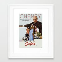 scarface Framed Art Prints featuring Cheney Scarface by vipez