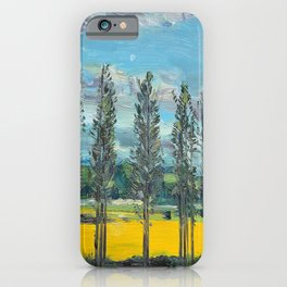 Yellow fields of the Loire Valley, France iPhone Case