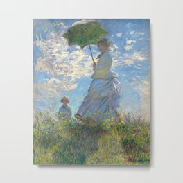Woman with a Parasol by Claude Monet, 1875 Metal Print