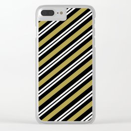 Team Color 1 ...,gold,white,black Clear iPhone Case