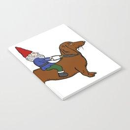 Gnome Riding a Dachshund Notebook