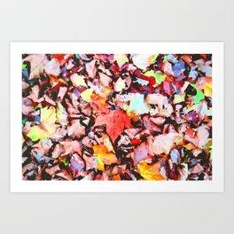 Maple foliage texture Art Print
