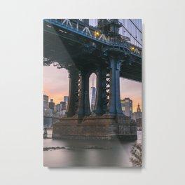 Dumbo Manhattan Bridge X One World Trade Center Metal Print