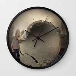 mattepainting-apocalipsis-2017 Wall Clock