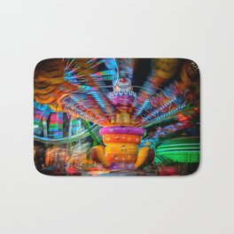 Cray Cray crazy fun at the carnival Bath Mat