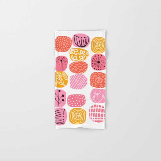 summer garden stories Hand & Bath Towel