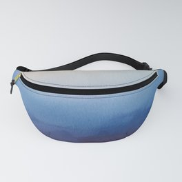 Ocean Mist - Abstract Watercolor Painting Blue and White Fanny Pack