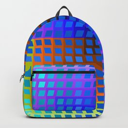 Rainbow Squares Victor Vasarely Style 2 Backpack
