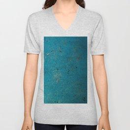 Tiffany Blue, Black & Gold Spatter Unisex V-Neck