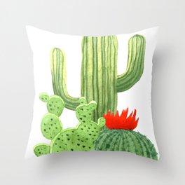 Perfect Cactus Bunch Throw Pillow