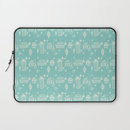Christmas gift and ornaments Blue and White #christmas Laptop Sleeve