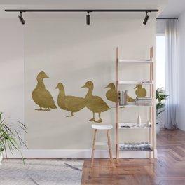 Golden Ducks Wall Mural