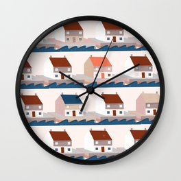 A house by the sea Wall Clock
