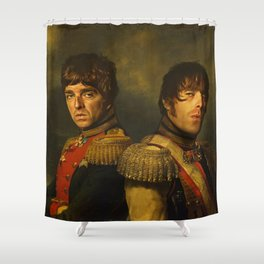 Noel Gallagher & Liam Gallagher - replaceface Shower Curtain