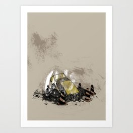 Where is? daddy Art Print